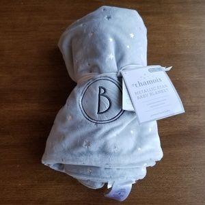Pottery Barn Baby Chamois Metallic Star Blanket